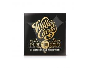 Willie's Cacao 100% hořká čokoláda Pure Gold Sur de Lago, Venezuela, 40g