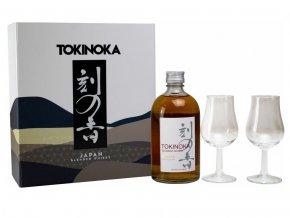 Tokinoka White whisky + 2x sklenička, dárková kazeta, 40%, 0,5l