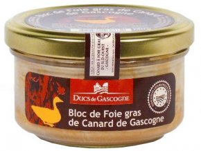 Kachní Foie Gras z regionu Gascogne v bloku (sklo), 130g