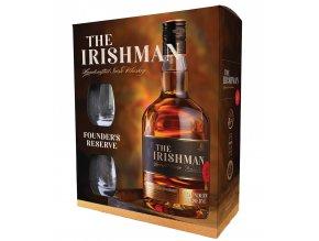 The Irishman Founder´s Reserve 2 skleničky, Gift box, 40%, 0,7l