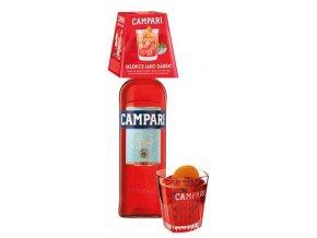 Campari Bitter Likér se skleničkou, 25%, 0,7l