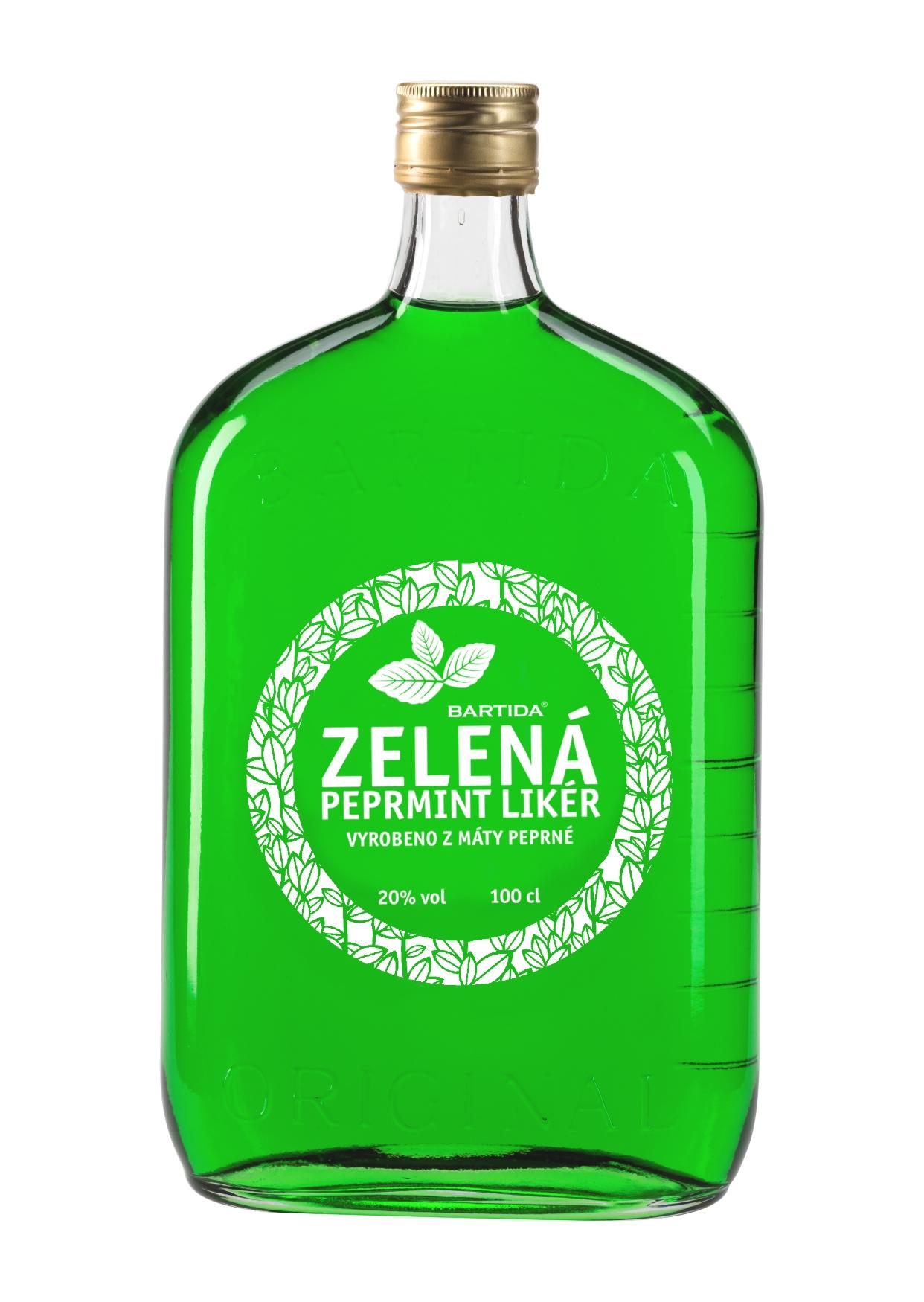 Bartida - Zelená Peprmint Likér, 20%, 1l