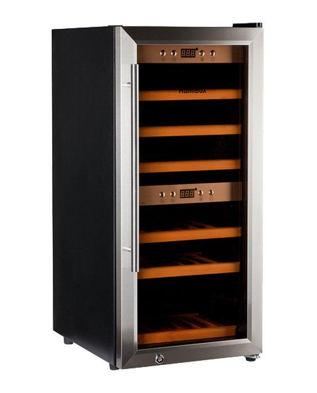 Chladnička na víno HumiBox Duo US24 Steel