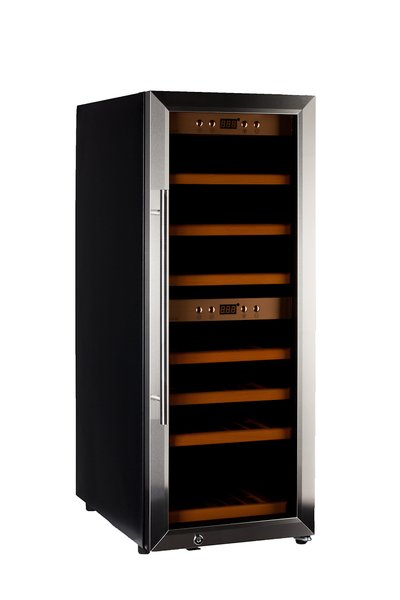 Chladnička na víno HumiBox Duo US38 Steel