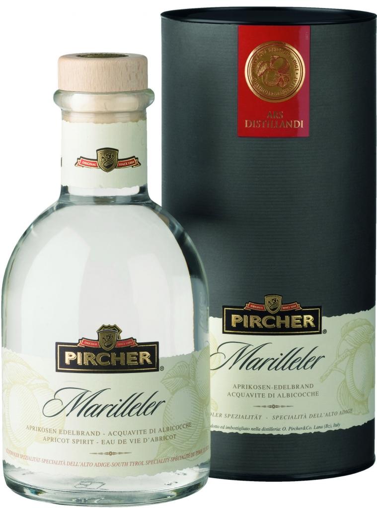 Pircher Marilleler, meruňka, dárkové balení, 40%, 0,7l