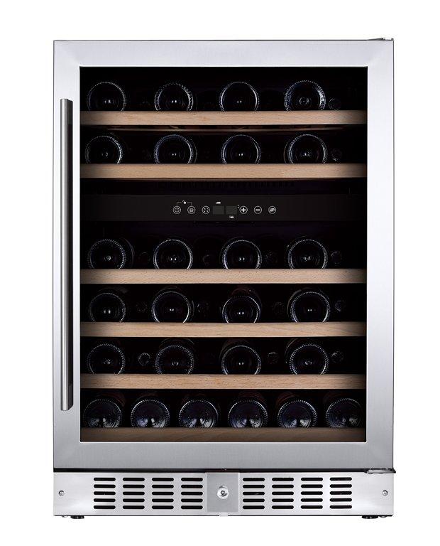 Chladnička na víno Humibox Duo BU46 Steel In
