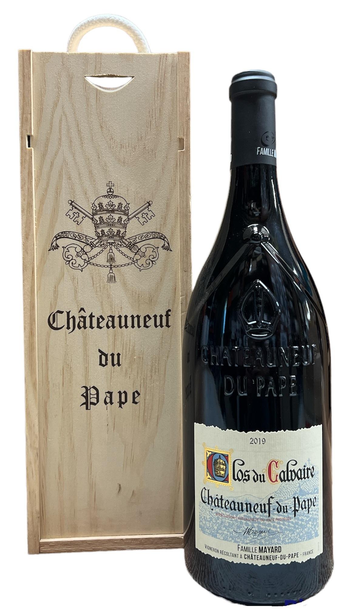 Chateauneuf du Pape - Clos du Calvaire AOC, dřevěný box, 1,5l