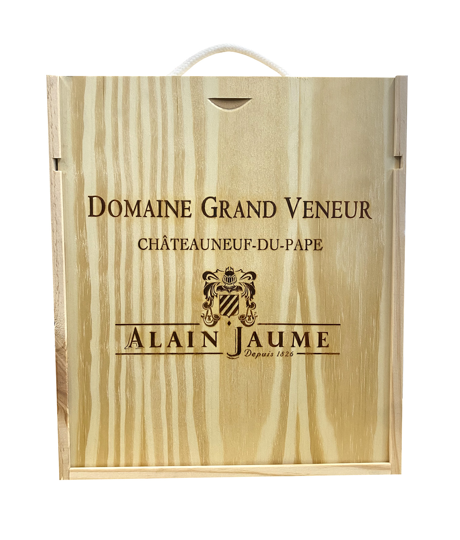 Alain Jaume Dřevěná krabička Domaine Grand Veneur uzavřená