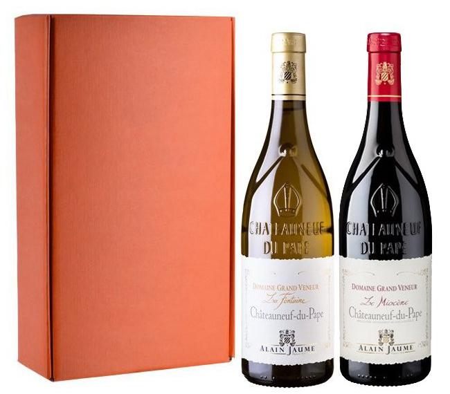 Châteauneuf-du-Pape Domaine Grand Veneur, Alain Jaume - sada 2 vín, 2x0,75l