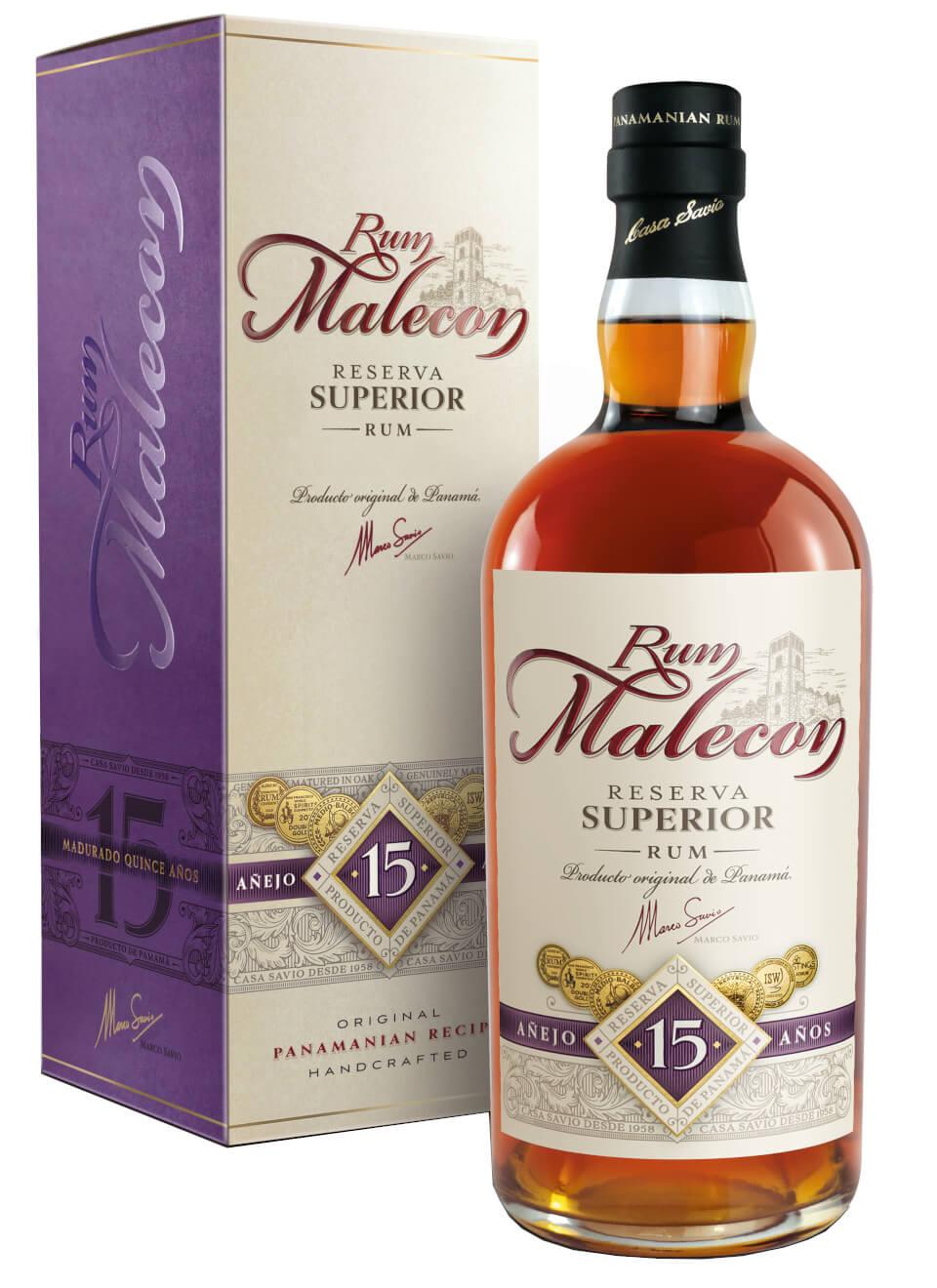 Rum Malecon Malecon Reserva Superior 15 YO Rum, 40%, 0,7l