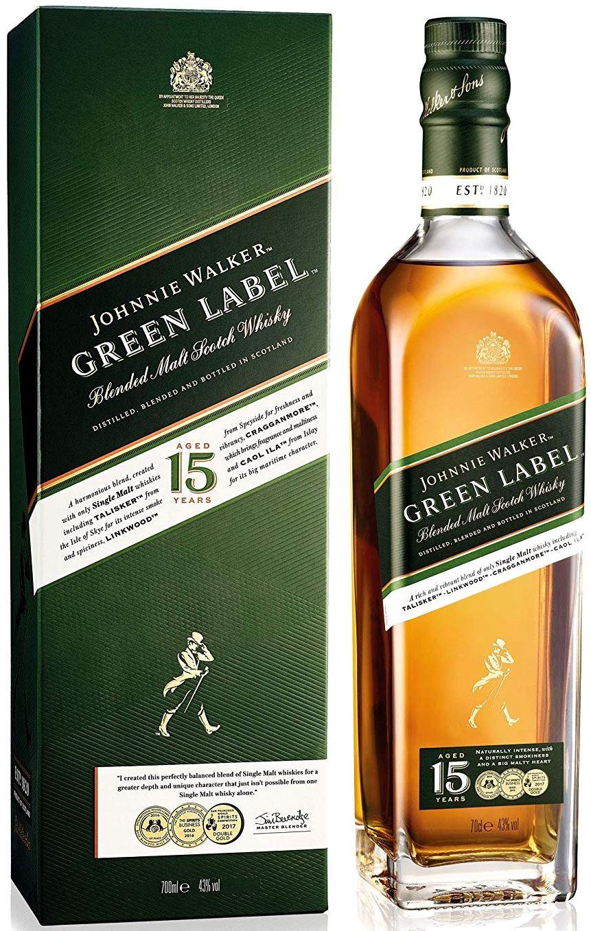 Johnnie Walker Green 15 YO, Gift box, 43%, 0,7l