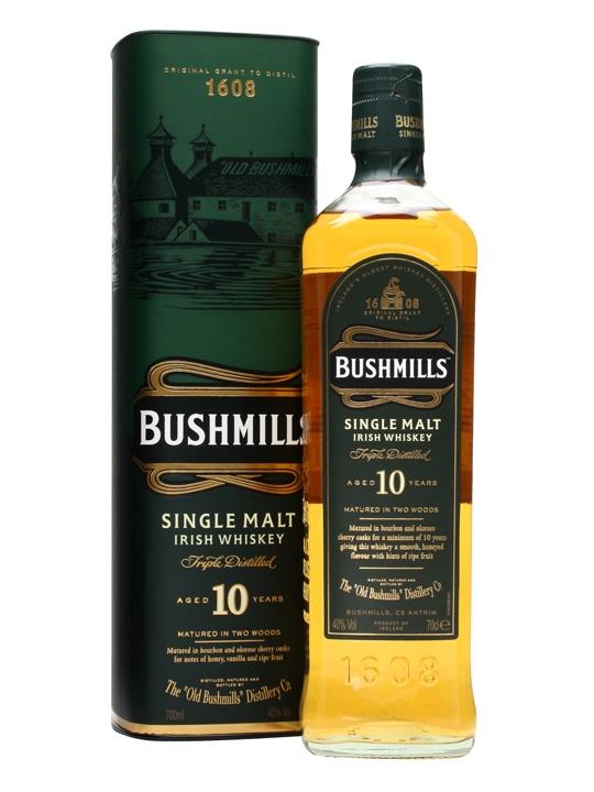 Bushmills 10 YO, Gift Box, 40%, 0,7l