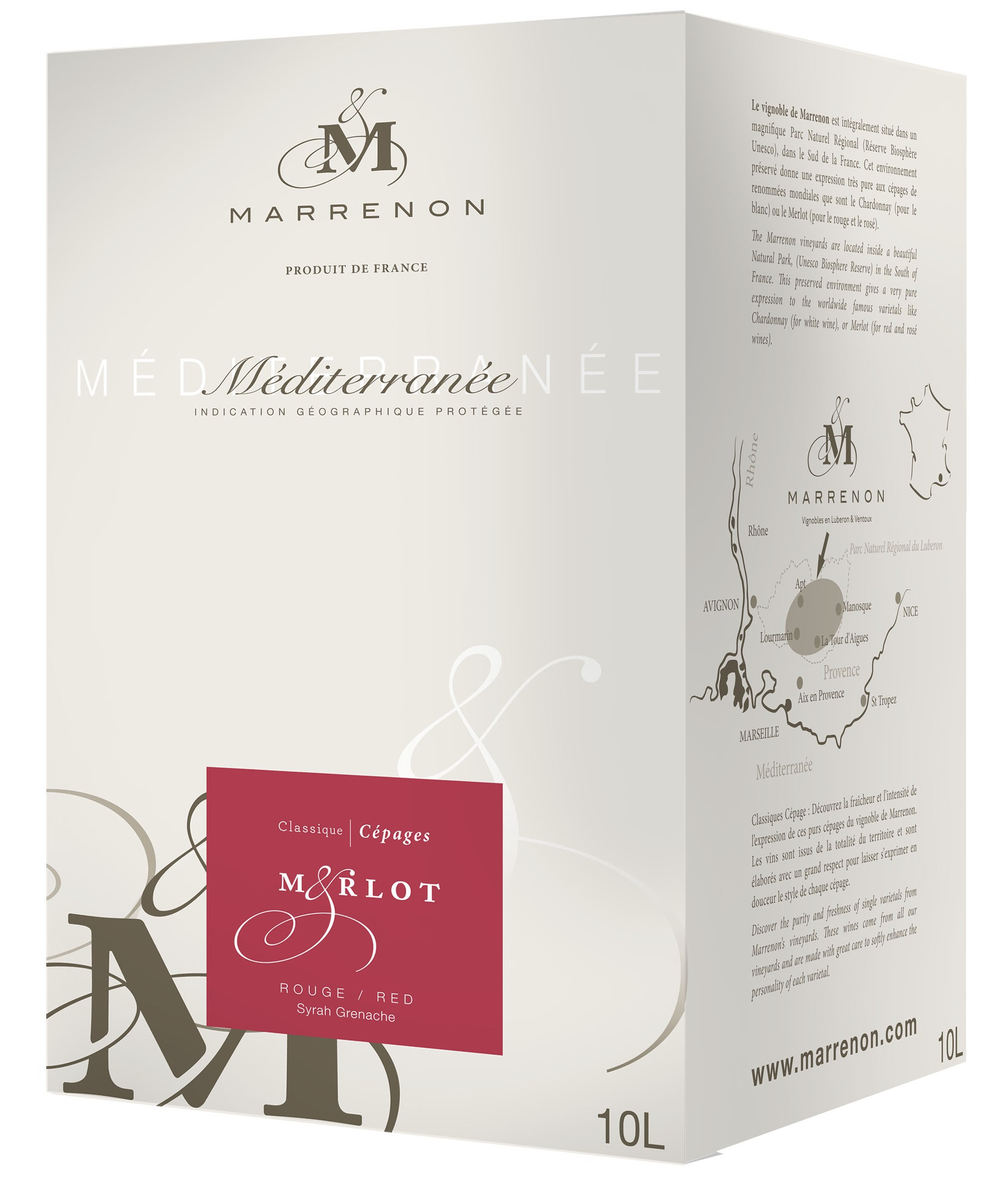 Marrenon - Merlot IGP, bag in Box, 10l