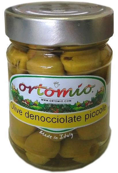 Ortomio Zelené olivy bez pecky ve slaném nálevu, 212ml sklo (03149)