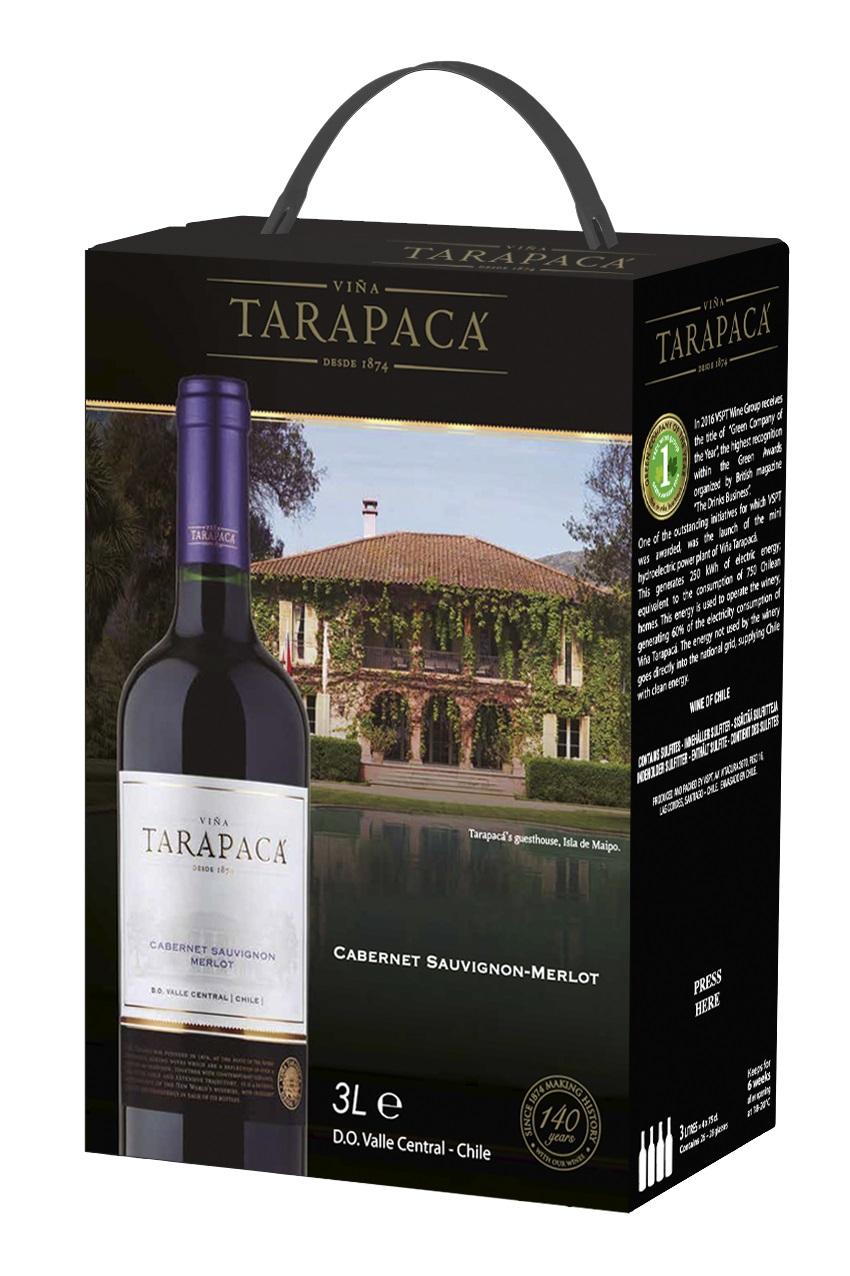 Vinařství Viňa Tarapacá Tarapacá, Cabernet sauvignon - Merlot, bag in box, 3l