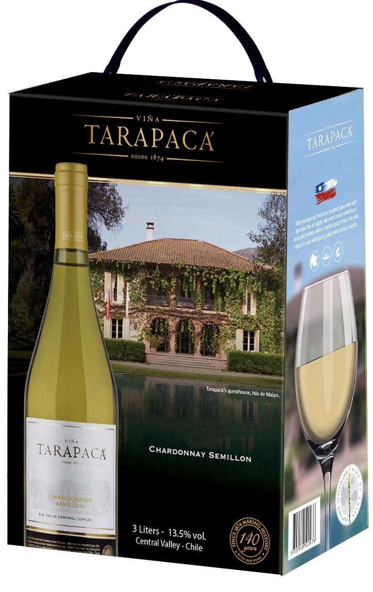 Vinařství Viňa Tarapacá Tarapacá, Chardonnay - Semillon, bag in box, 3l