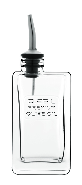 Láhev na olivový olej, Optima, Luigi Bormioli, 0,25l