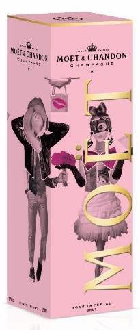 Moët & Chandon Imperial Brut Rosé v dárkové krabičce Unconventional Love, 0,75l