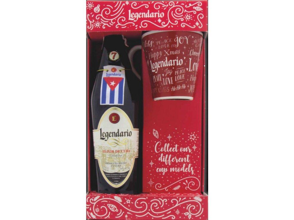 Legendario S.L. Legendario Elixir De Cuba + hrníček, Gift box, 34%, 0,7l