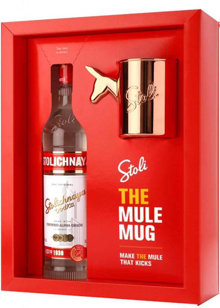 Stolichnaya vodka Mule Mug, 40%, 0,7l