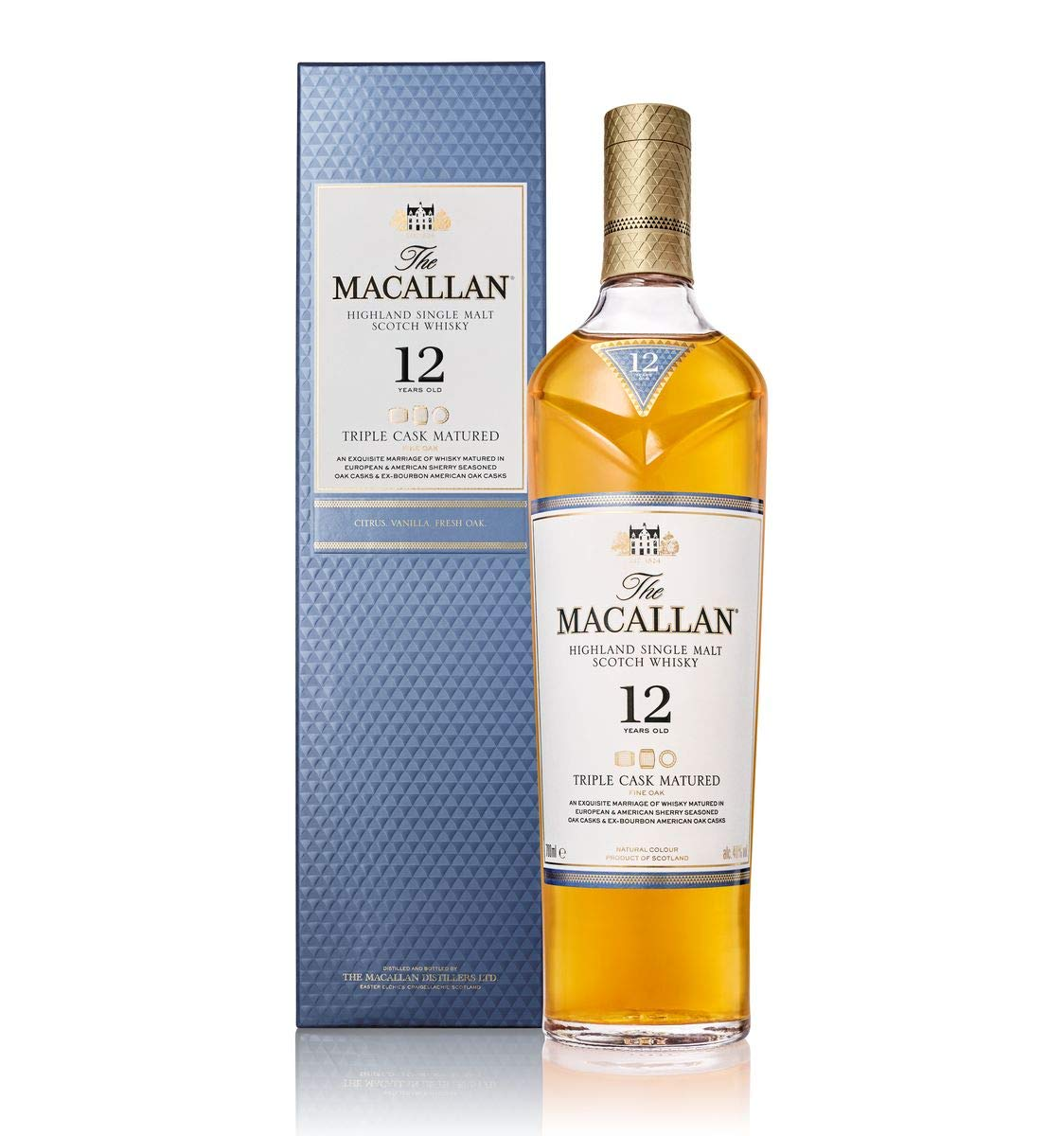 Macallan 12 YO Triple Cask, Gift Box, 40%, 0,7l