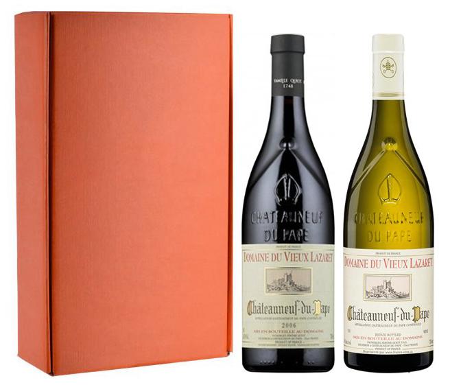 Jerome Quiot Sada 2 vín - Châteauneuf du Pape - Domaine du Vieux Lazaret, 2x0,75l
