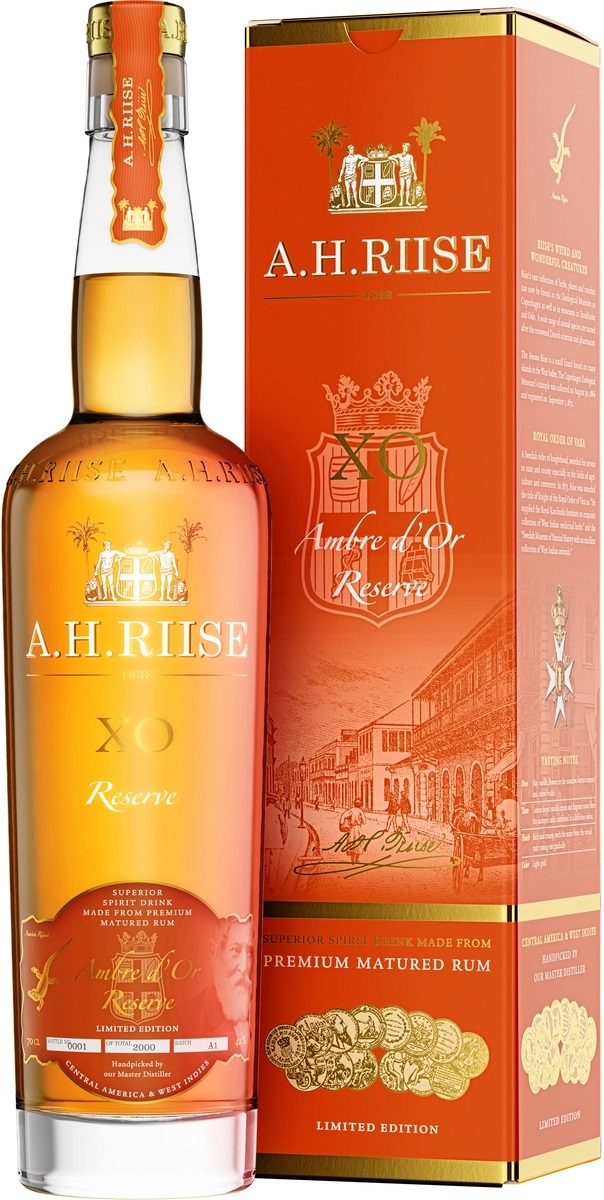 A.H.Riise XO Ambre D`OR Reserve, 42%, 0,7l