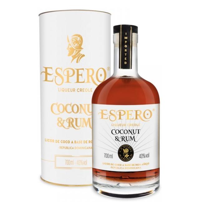 Ron Espero Rum & Coco Dark, Gift box, 40%, 0,7l