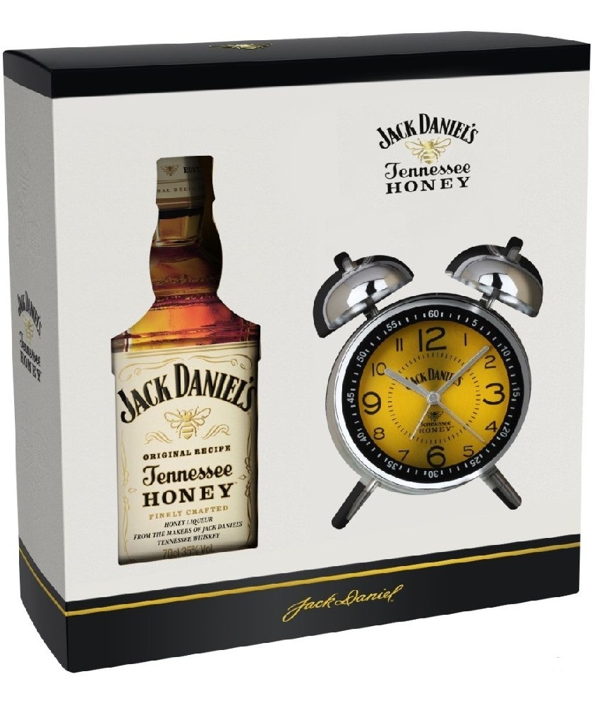 Jack Daniel´s Honey + budík, Gift box, 35%, 0,7l