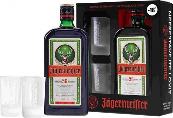 Jägermeister + 2 skleničky, Gift box, 35%, 0,7l