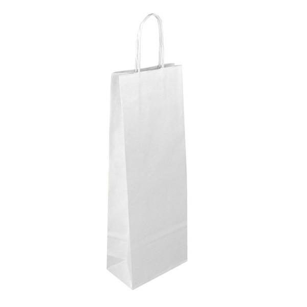 Papírová taška na víno - bílá