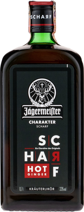 Jägermeister Scharf Hot Ginger, 33%, 0,7l
