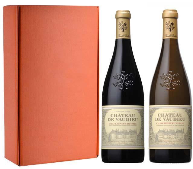 Sada 2 vín - Chateauneuf du Pape - Chateau de Vaudieu, 2x0,75l