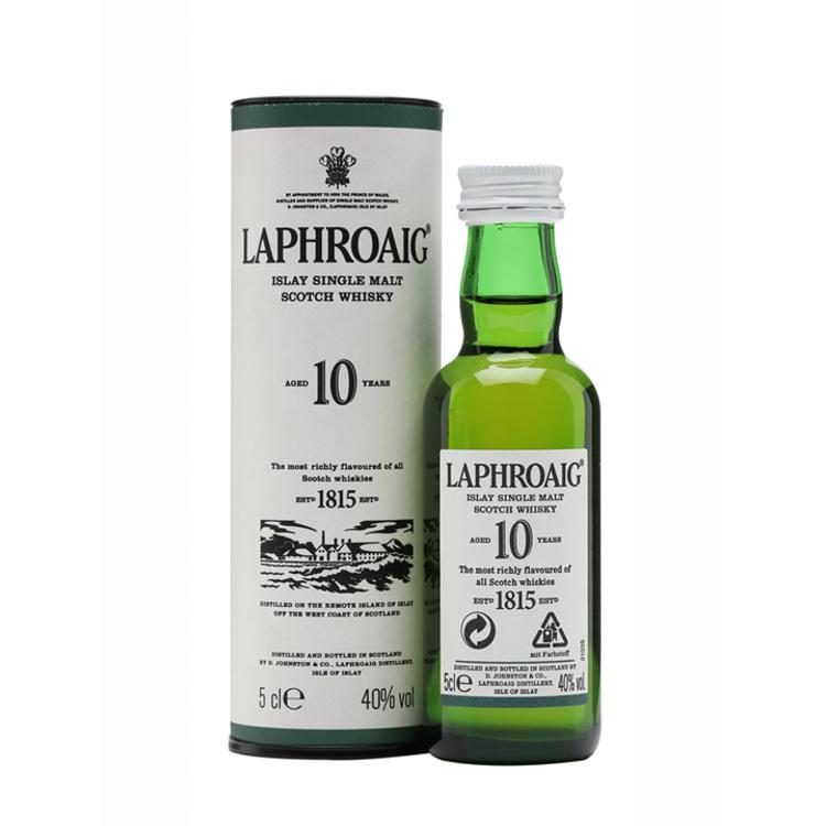 Laphroaig whisky 10 YO, 40%, 0,05l