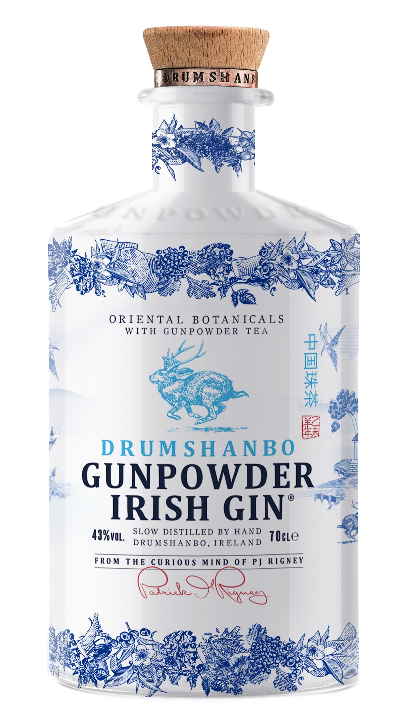 Drumshanbo Gunpowder CERAMIC Irish Gin, 43%, 0,7l