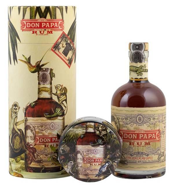 Don Papa Rum, Tuba +Tričko, 40%, 0,7l