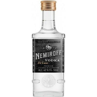 Nemiroff de Luxe vodka, miniatura, 40%, 0,05l