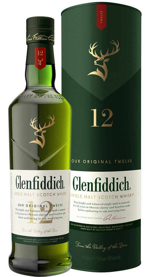 Glenfiddich 12 YO, Gift Box, 43%, 0,7l