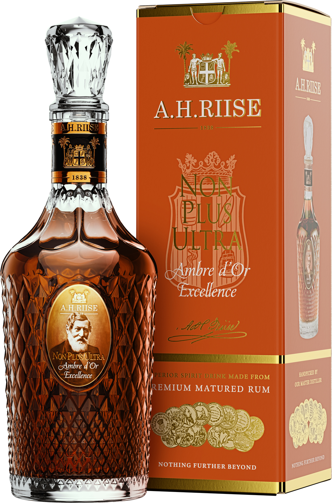 A.H.Riise NON PLUS ULTRA Ambre d´Or Excellence, 42%, 0,7l