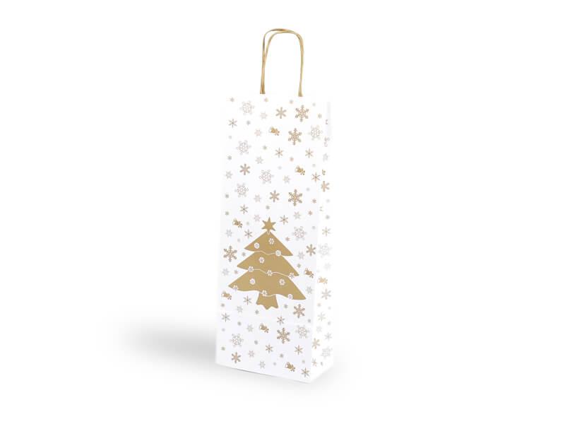 Papírová taška na 1 lahev, vánoční