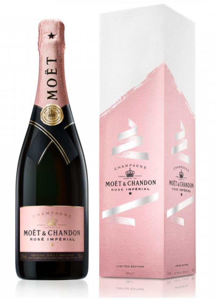 Moët & Chandon Imperial Brut ROSÉ FESTIVE, Gift Box, 0,75l
