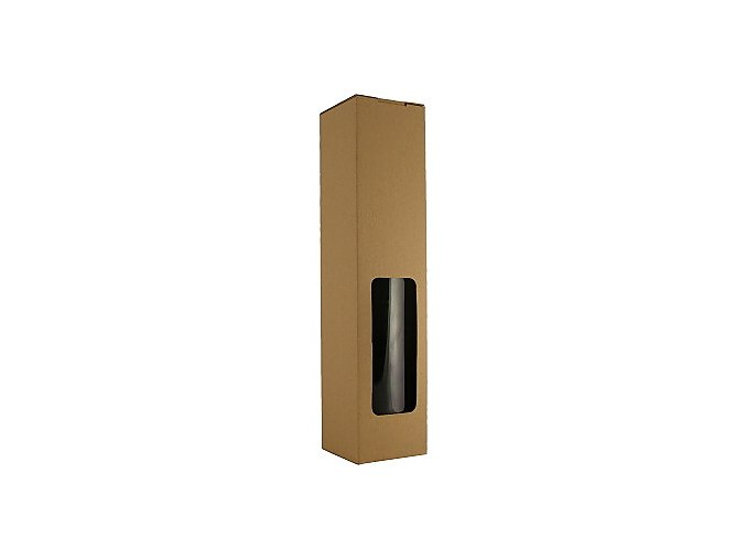 Papírová krabice na 1 láhev - hnědá