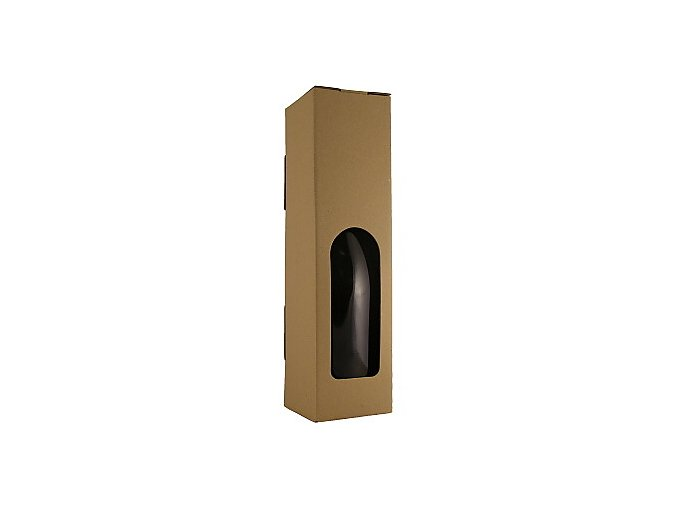 Papírová krabice na 1 láhev - hnědá větší