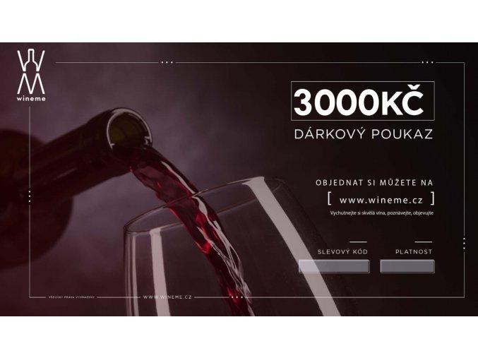 Dárkový poukaz 3000