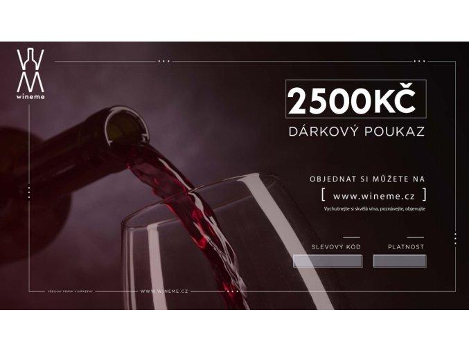 Dárkový poukaz 2500