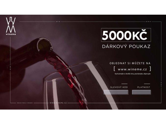 Dárkový poukaz 5000