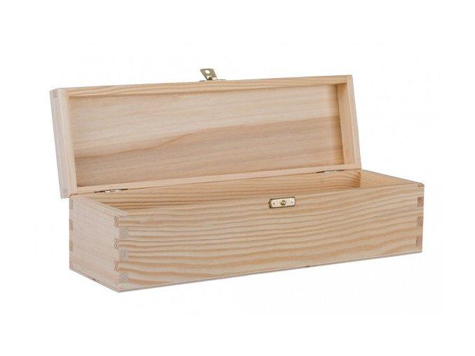 Dřevěná krabička na víno s pantem, 1x0,75 l 1
