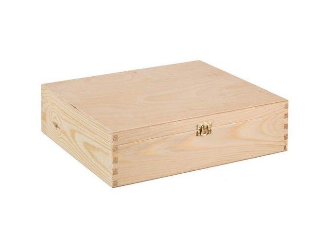 Dřevěná krabička na víno s pantem, 3x0,75 l 1