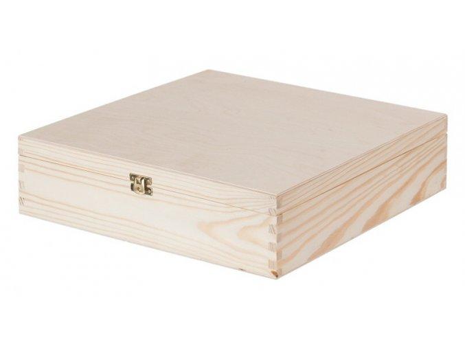Dřevěná krabička na víno s pantem, 4x0,75 l 1