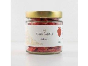 Jahody křupavé plátky 25g Slowlandia 1